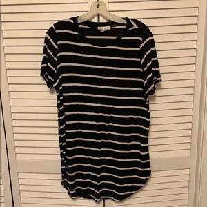 Forever 21 striped long shirt/tshirt dress